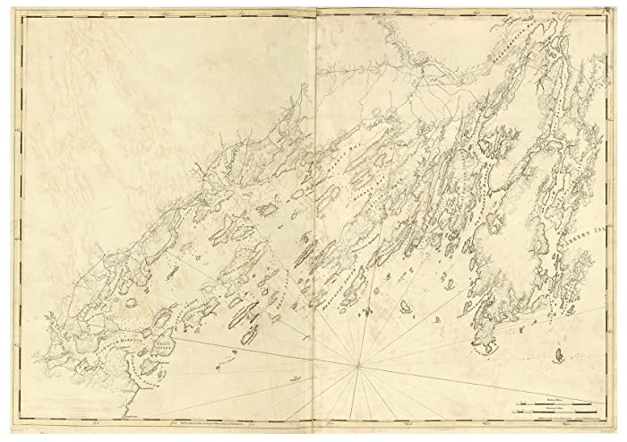 Amazon casco bay maine 1776 map revolutionary war survey by casco bay maine 1776 map revolutionary war survey by british navy des barres v3 freerunsca Image collections
