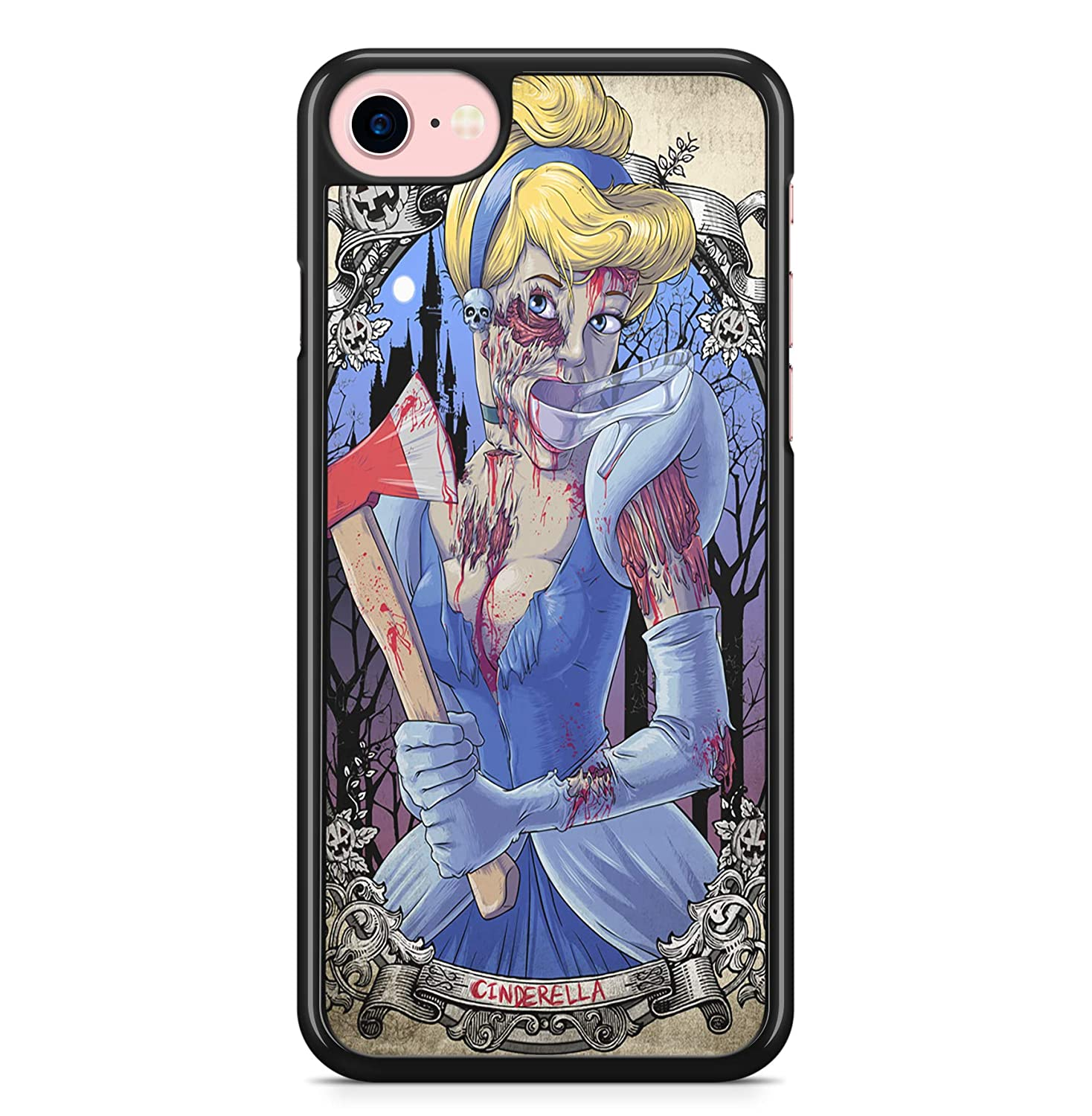 Coque iPhone 4 4S 5 5S SE 5C 6S Plus 7 8 X XS MAX XR Cendrillon Disney Zombie