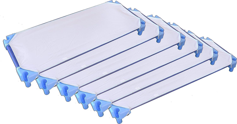 Ti TIN Pack de 6 Sábanas Bajeras para Cuna Apilable de Guardería | Lote de 6 Sábanas Bajeras 100% Algodón, 53x132 cm