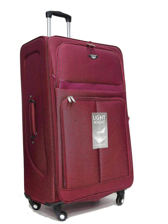 Black, Set of 4 4 Wheel Spinner Hand Luggage Set Lightweight Suitcase Travel Bag Flight case
