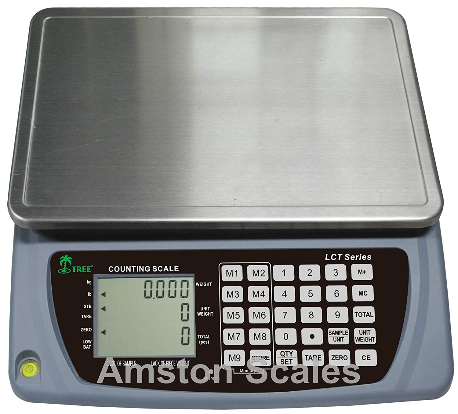 Image of 6.6 LB x 0.0002 LB / 3 KG x 0.1 Gram Large (13 x 9 Inch Tray) Counting Scale Coin Parts Inventory Paper Piece
