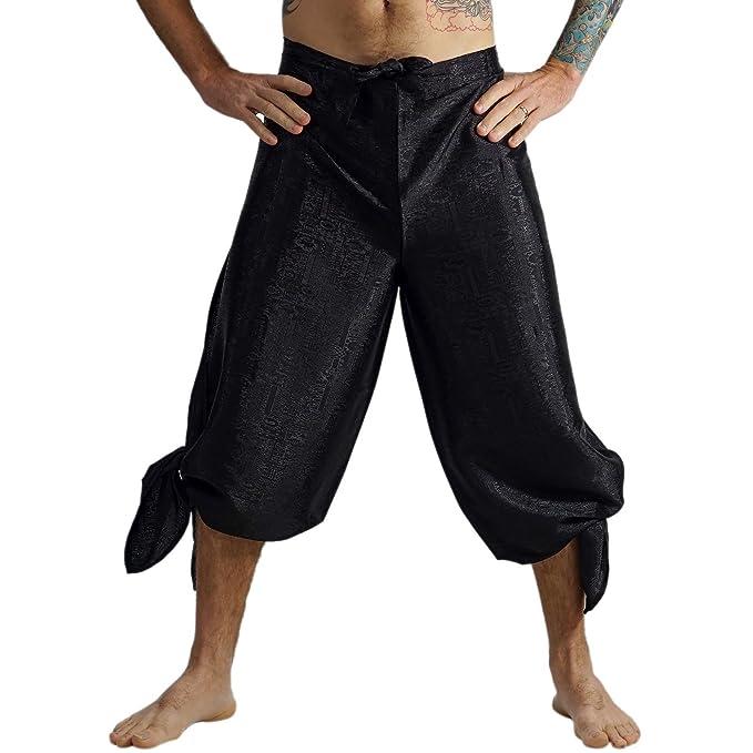 Amazon.com: zootzu Wrap Pantalones de yoga para hombre ...