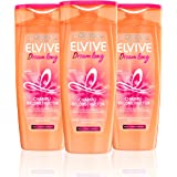 LOréal Paris Elvive Dream Long Champú Reconstructor - 3 Recipientes de 370 ml -