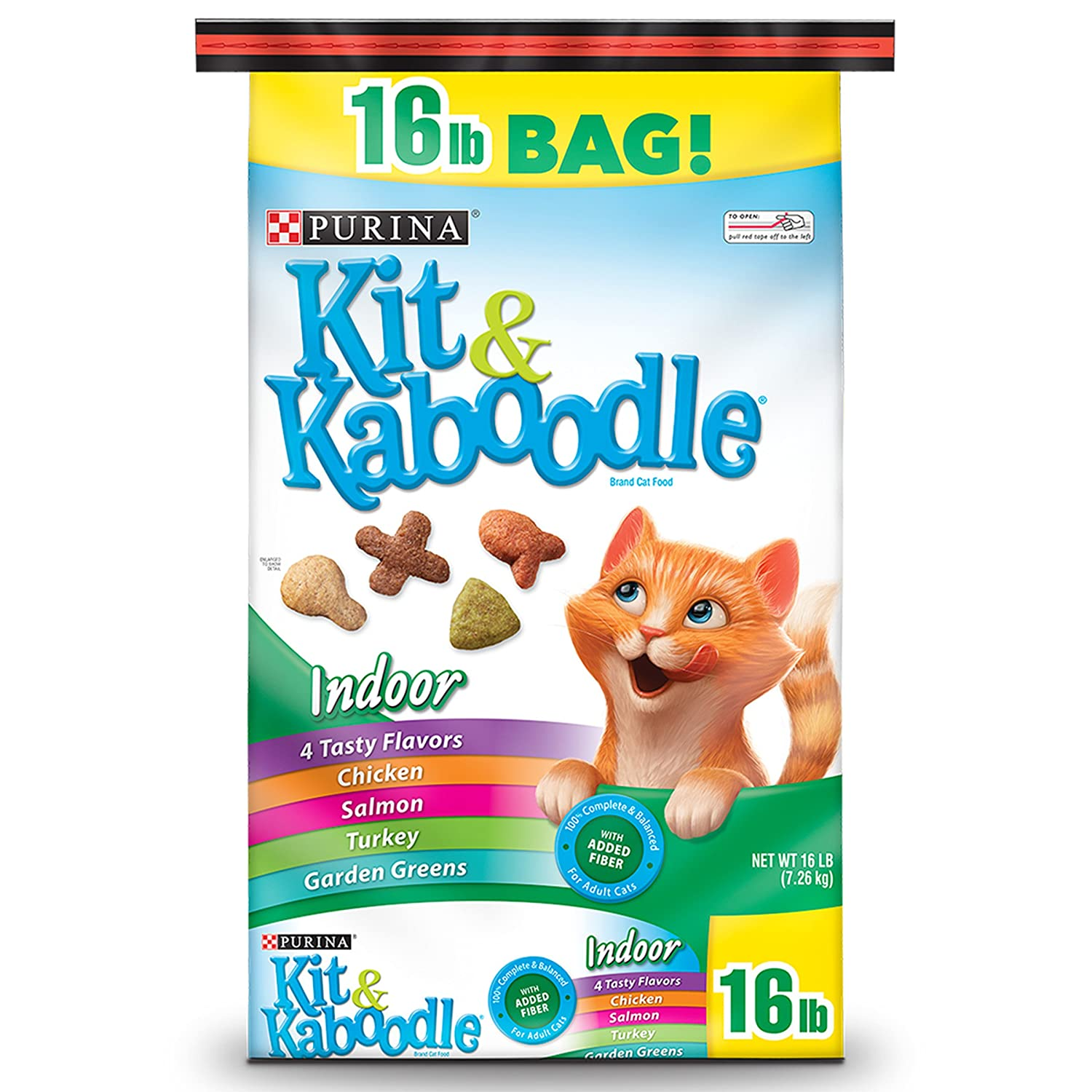 Purina Kit & Kaboodle Indoor Dry Cat Food, Indoor - 16 lb. Bag