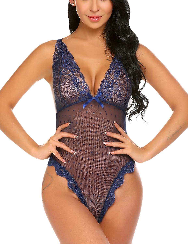 Avidlove Women Teddy Lingerie Lace Babydoll Halter Bodysuit S-XL