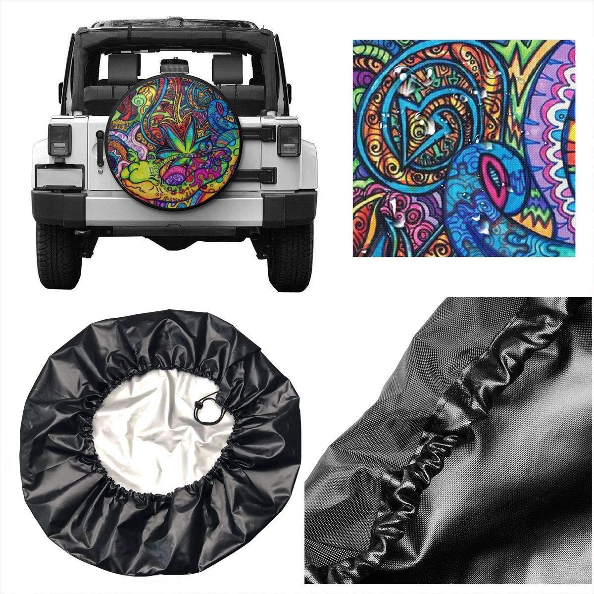 Resentment of The Wolf Spare Wheel Tire Cover Weatherproof Tire Protectors WBinHua Ruota di scorta Pneumatico Copertura Morbida di Spare Wheel Covers