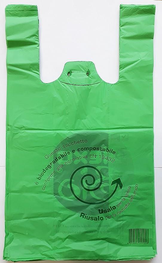 pour les courses 23/x 40/cm Lot de 500 sacs biod/égradables et compostables avec anses C.X.Y de petite taille