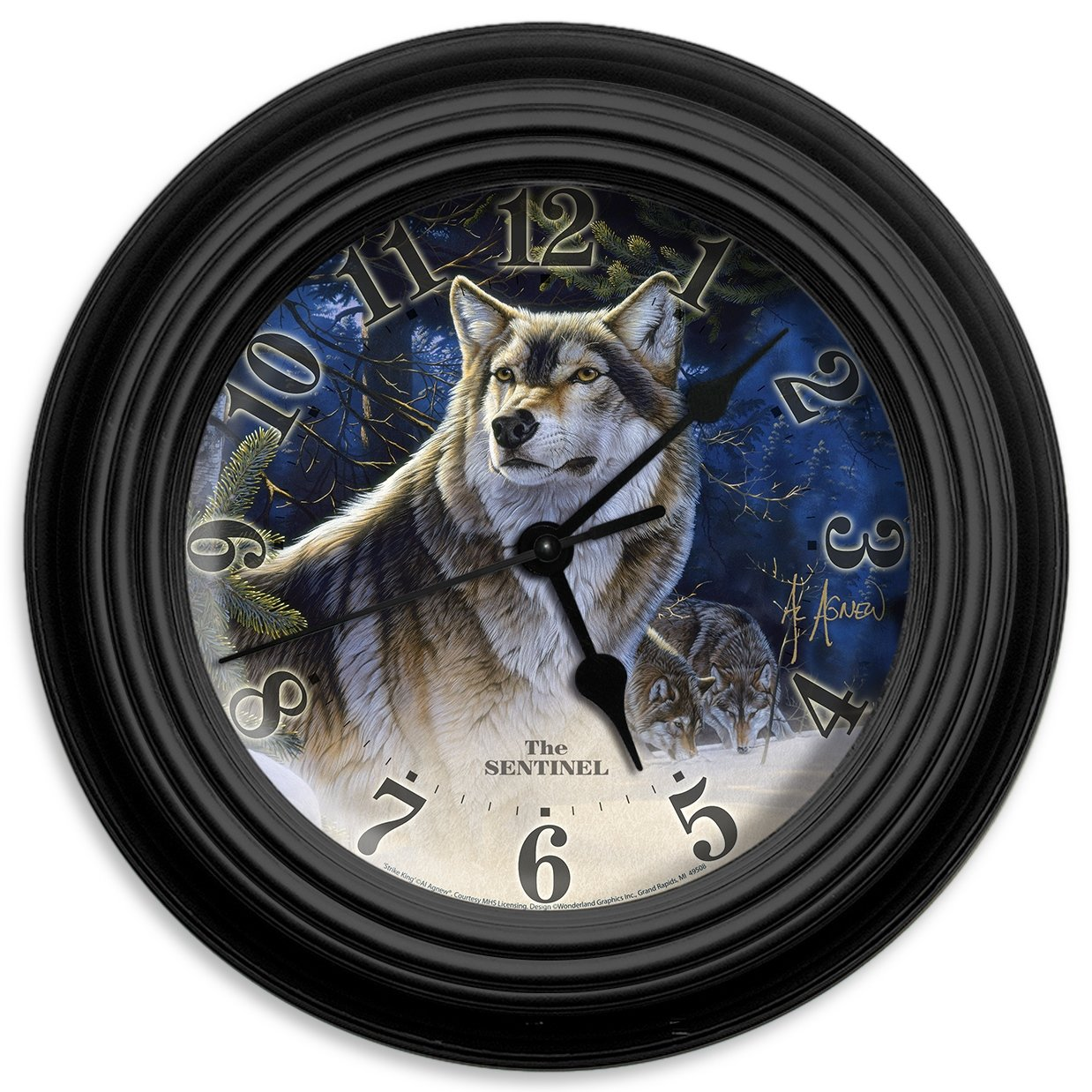 Reflective Art the Sentinel Wall Clock