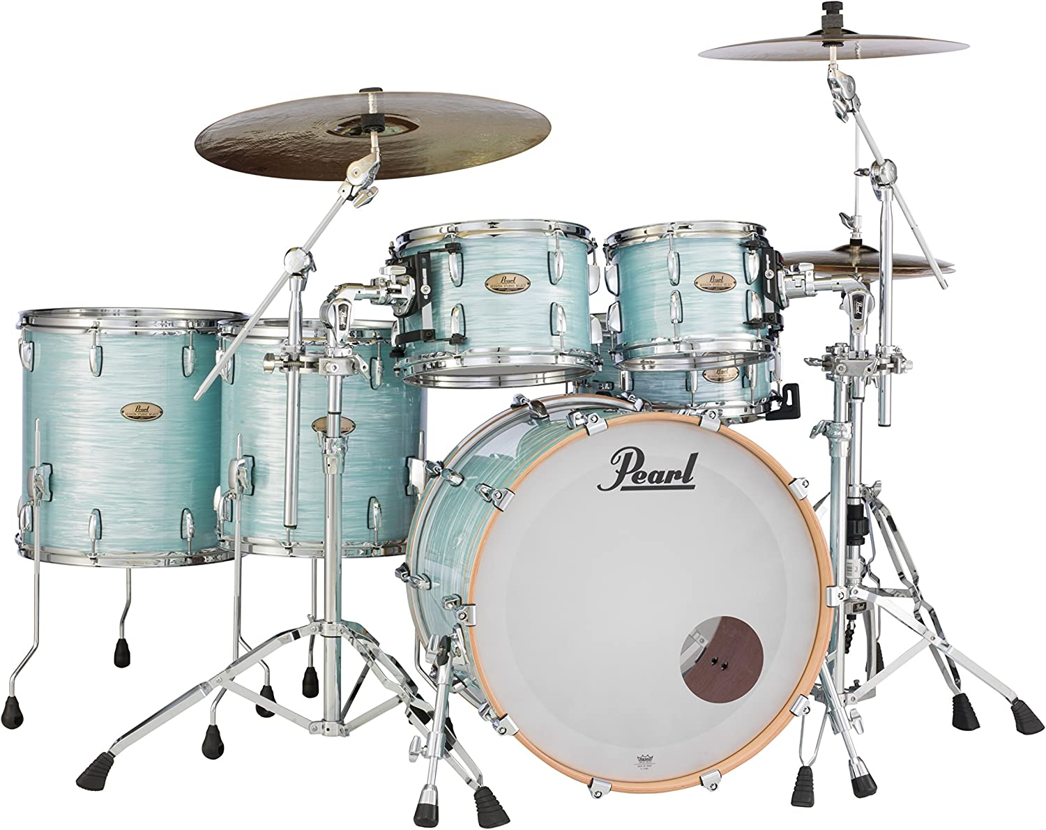 Ice Blue Oyster STS925XSP//C414 Pearl Session Studio Select Series 5-piece shell pack hardware//cymbals not included