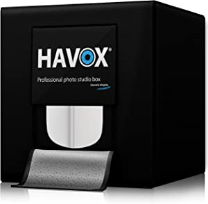 "HAVOX - Photo Studio HPB-40D - Dimension 16""x16""x16"" - Super Bright Dimmable LED Lighting 5500k - 13,000 lumens - CRI 93 - Make Your Commercial Photos e-Commerce"