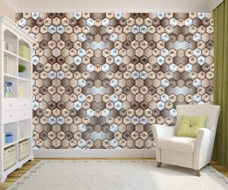 Buy Wallpappers 3d Design Gold And Beige Pattern Wallpaper
