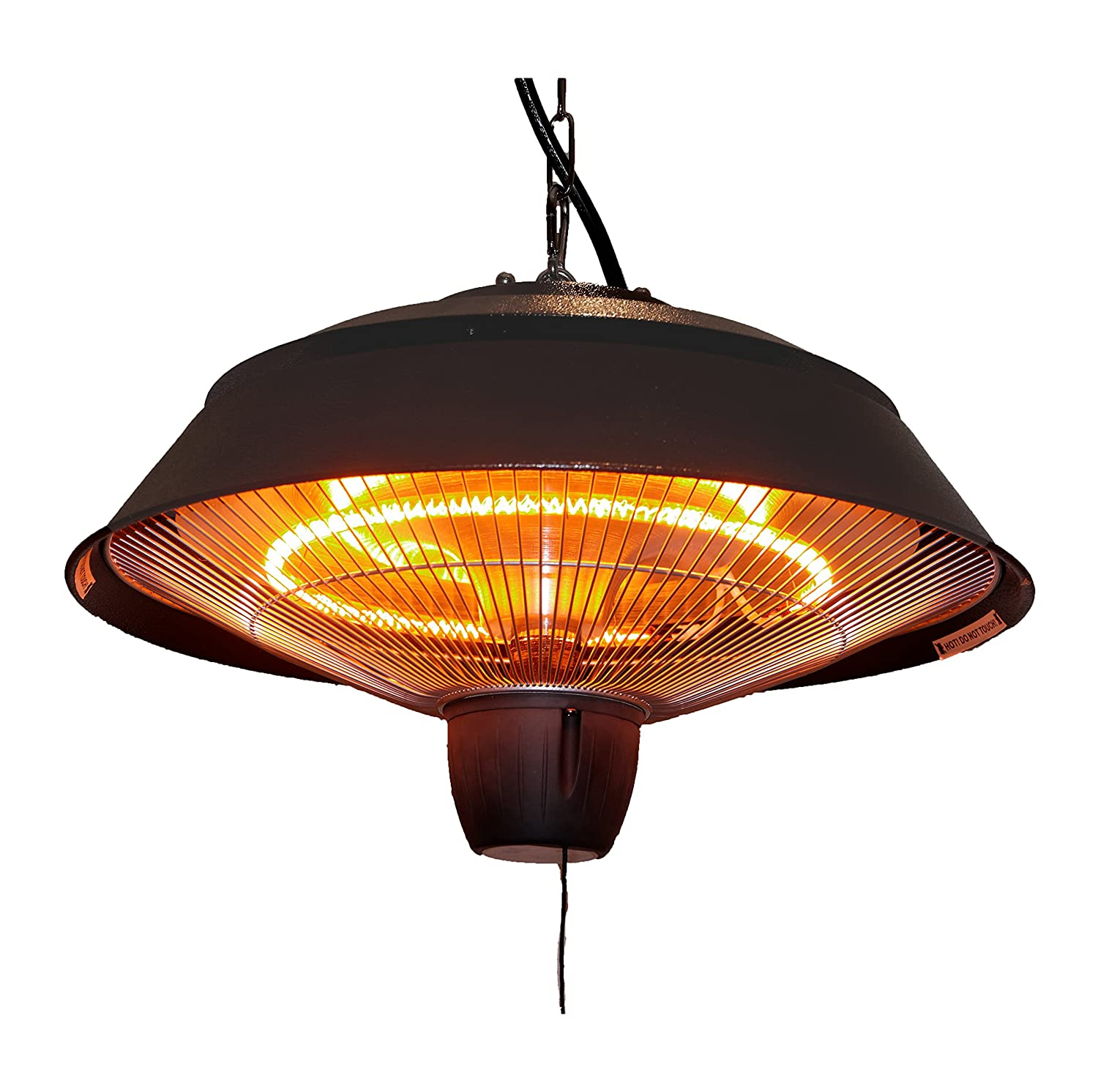 Amazon.com : Ener G+ Infrared Outdoor Ceiling Electric Patio Heater,  Hammered Brown : Garden U0026 Outdoor