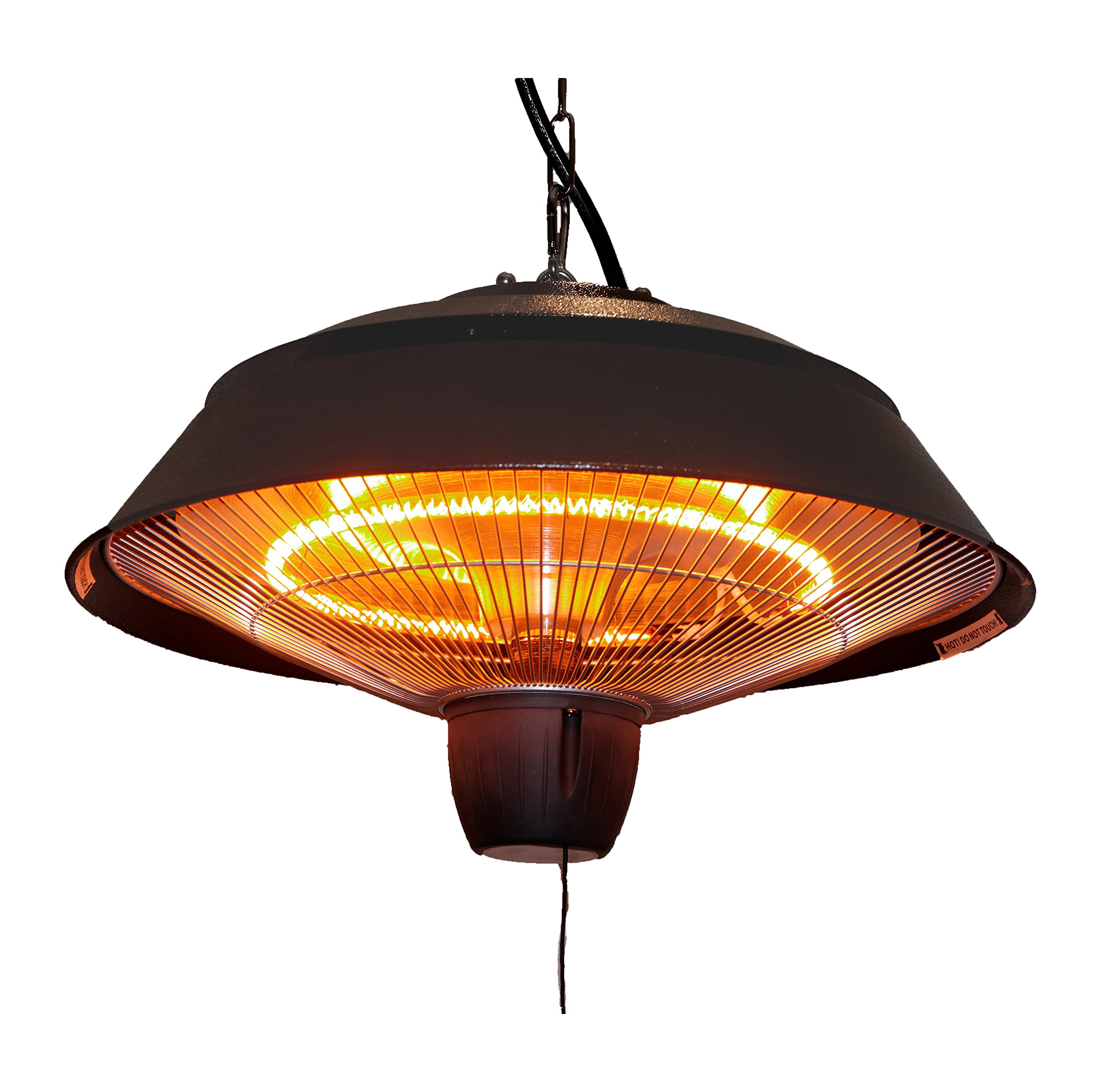 Ener-G+ Infrared Outdoor Ceiling Electric Patio Heater, Hammered Brown