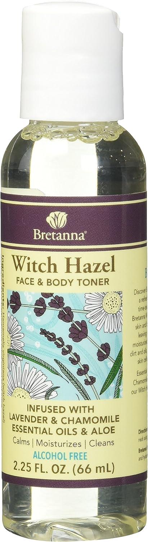 Bretanna Witch Hazel Toner Lavender Chamomile, 2.25 fl oz