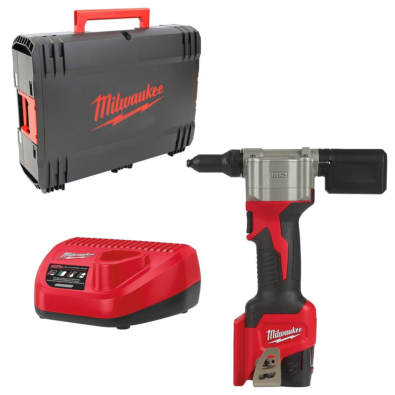 1 batterie 12V 2.0 Ah Riveteuse MILWAUKEE M12 BPRT-201X 1 chargeur 4933464405