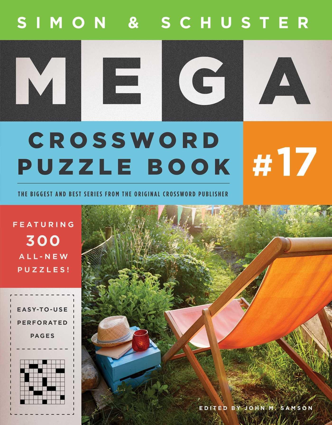 simon schuster mega crossword puzzle book 17 john m samson