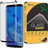 Jasinber Protector de pantalla de vidrio templado de cobertura de pantalla completa para Samsung Galaxy S8 Plus (Negro)