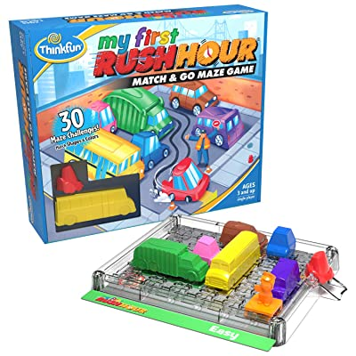 Think Fun My First Rush Hour STEM Toy and Brain Game for Boys and Girls Age 3 and Up - A Match and Go Maze Game​: Toys & Games