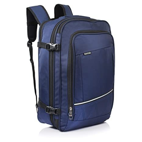 6f74540941b0 Suntop Voyager 48 litres Expandable   Convertible 3 Way Travel Carry-On  Backpack (Blue Colour)  Amazon.in  Bags