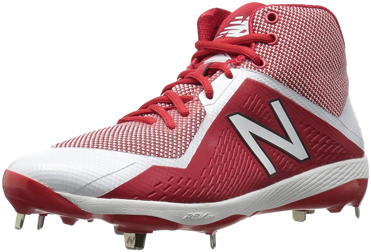 New Balance Men's M4040v4 Metal Baseball Shoe B01N66HZZ0 5.5 D(M) US|Red/White