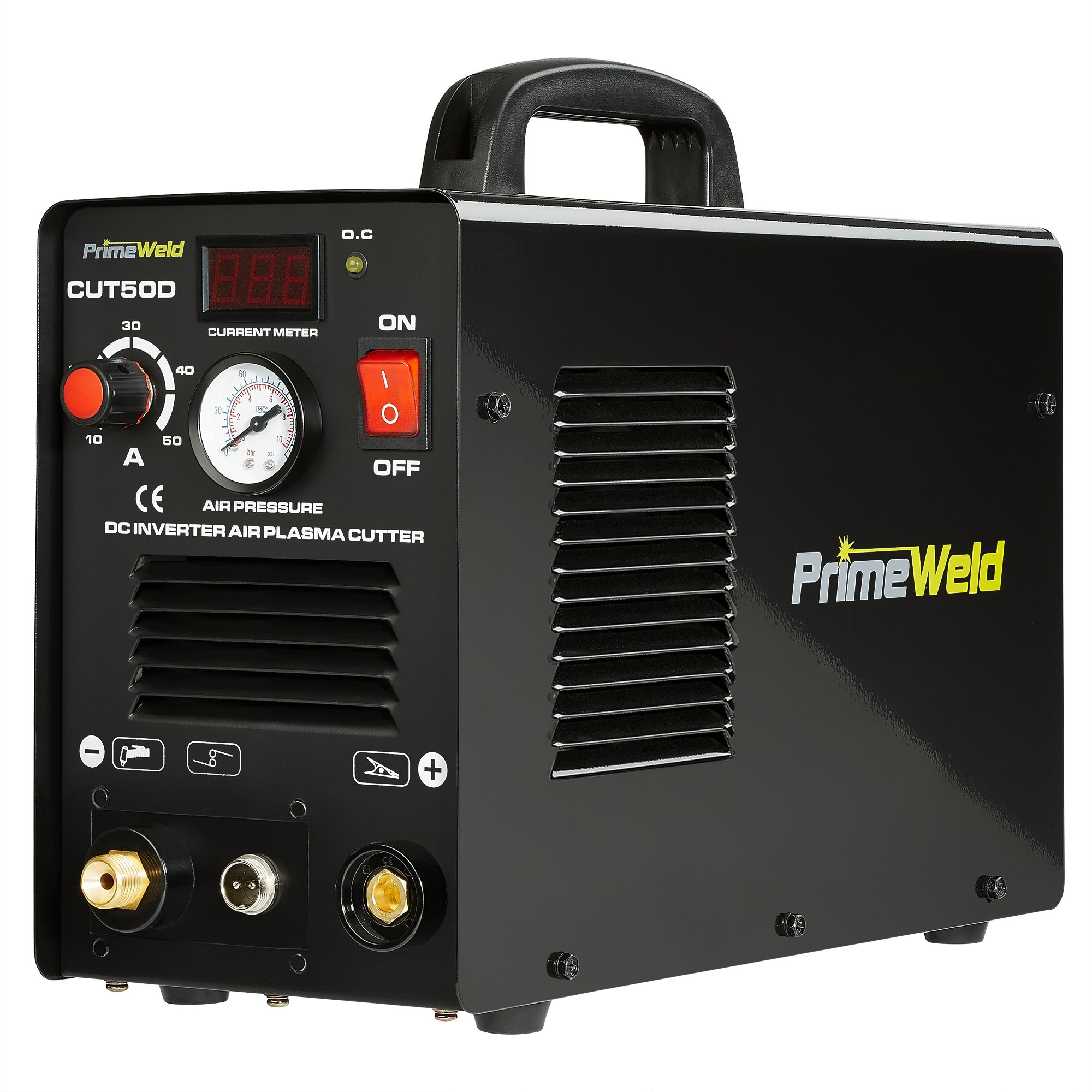 PRIMEWELD Premium & Rugged 50A Air Inverter Plasma Cutter Automatic Dual Voltage 110/220VAC 1/2'' Clean Cut Portable by PRIMEWELD