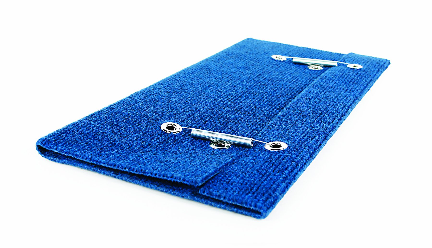 Camco Wrap Around Step Rug- Protects Your RV from Unwanted Tracked in Dirt, Works on Electrical and Manual RV Steps - Extra Large (Blue) (42934)