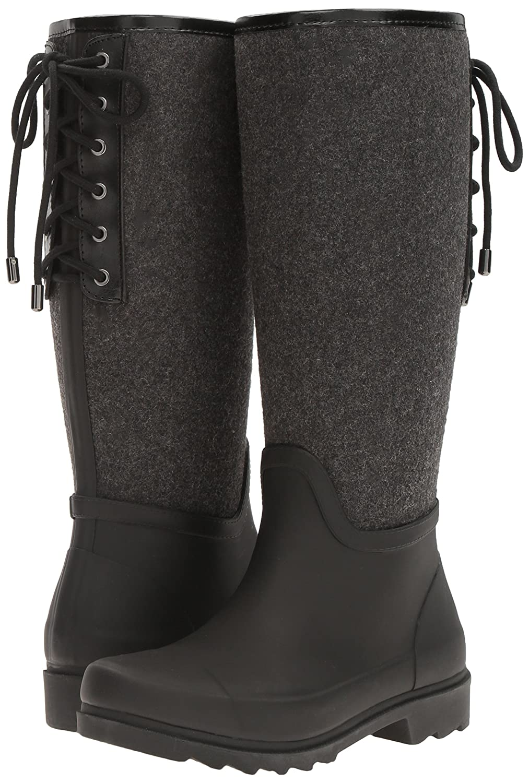 Nine West Women's Oops Rubber Rain Shoe B01MTK1N2M 10 B(M) US Dark Grey/Multi