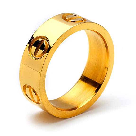 Designer Inspired Love Ring Gold Size 6 Amazon