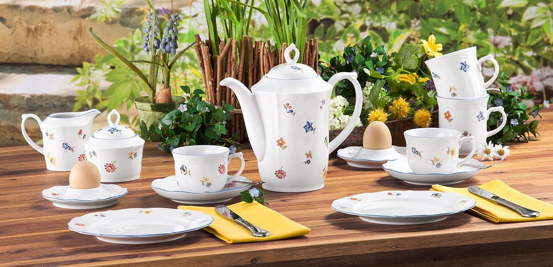 Serie Sonate Servicio Incluye Cada 6 Cena Porcelana Unidades Set para 6 Personas 32 x 32 x 23cm Seltmann Weiden Blanco 12 Piezas Plato de Sopa