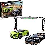 LEGO Speed Champions Lamborghini Urus ST-X and Lamborghini Huracán Super Trofeo EVO 76899 Building Kit, New 2020 (663 Pieces)