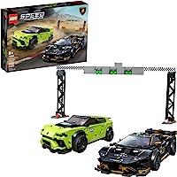 LEGO Kit de construcción Speed Champions 76899 Lamborghini Urus ST-X & Lamborghini Huracán Super Trofeo EVO (659 Piezas)