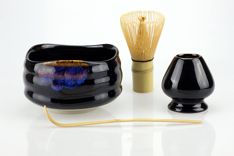 Matcha bowl with black / blue glaze (broom and spoon black / blue) Urban Lifestyle