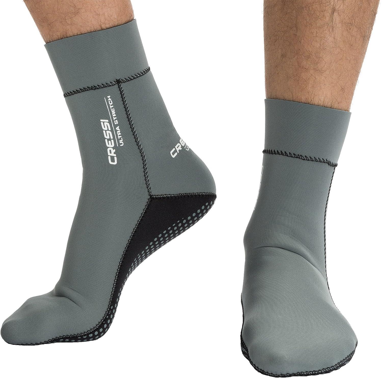 Cressi Uni Neoprensocken Ultra Stretch Boots, grau, M, DF200031 ...