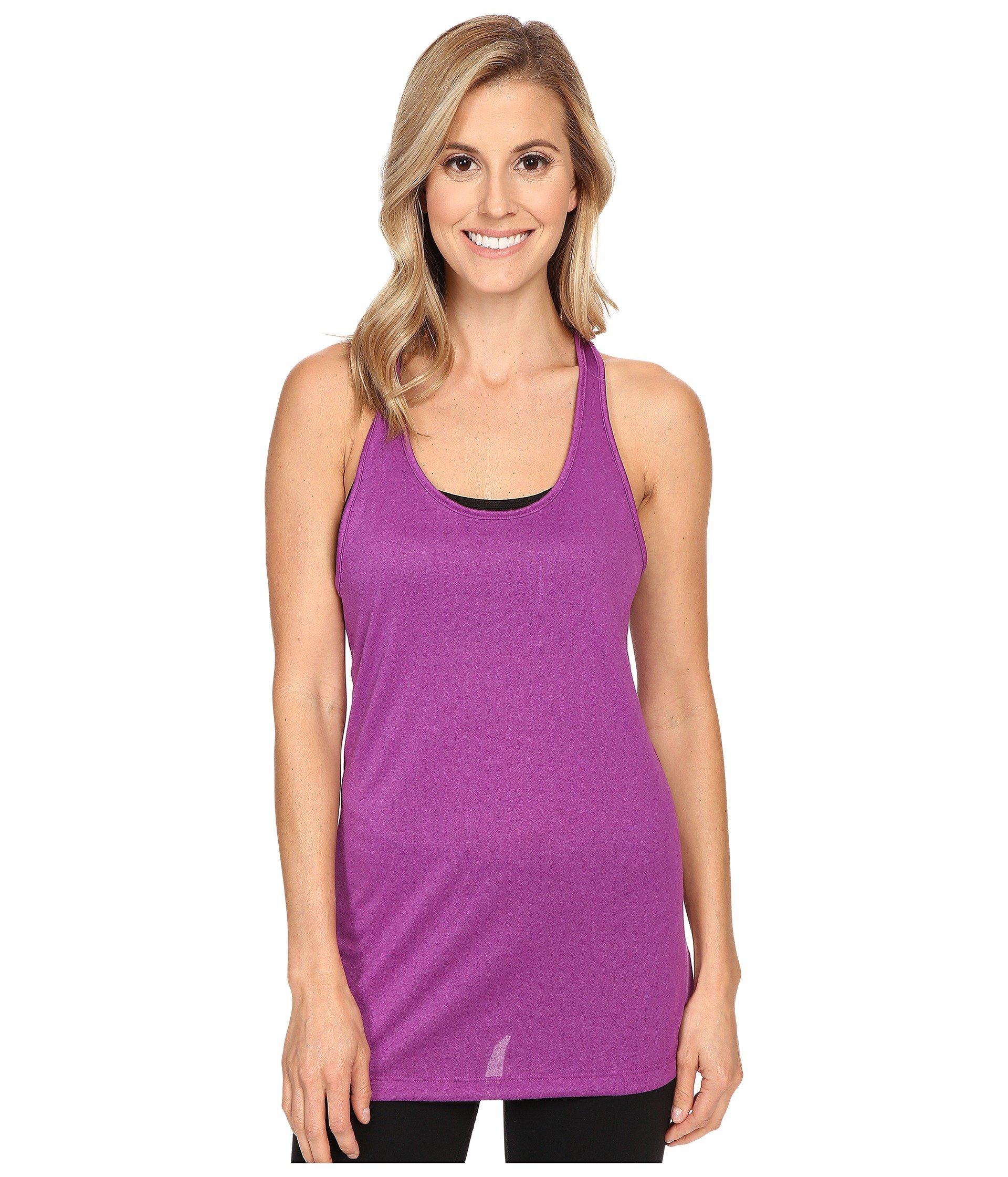 NIKE Women's Dry Balance Tank, Cosmic Purple/Cosmic Purple, X-Small