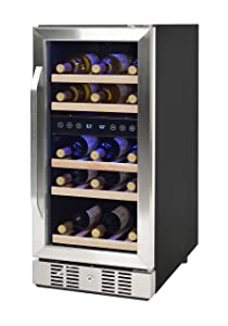 NewAir Dual Zone Built-In Wine Cooler and Refrigerator, 29 Bottle Capacity Fridge with Double-Layer Tempered Glass Door, AWR-290DB