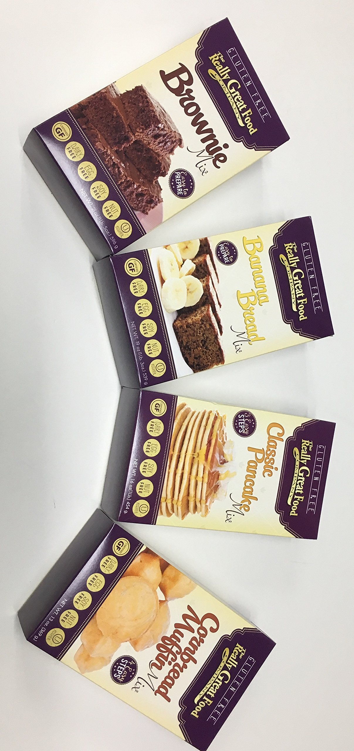 The Really Great Food Company GLUTEN FREE Baking Mixes 4 PACK (Brownie, Banana , Pancake & Cornbread) by The Really Great Food Company Baking