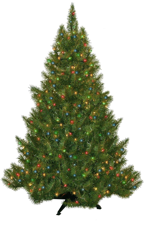 Amazon.com : Portland Fir Tree, 6.5-Feet, 450 Multi-Color Lights ...