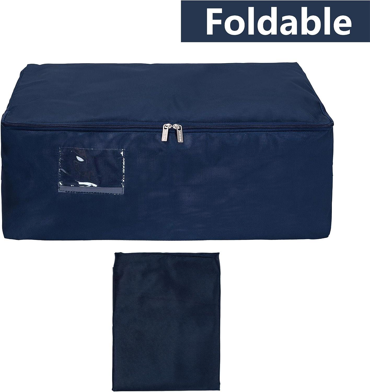 EINWEG Grau Faltbare Organisator-Beutel f/ür Deckbetten DOKEHOM 100L Extra Gro/ßen Kleiderst/änder Unterbettkommoden