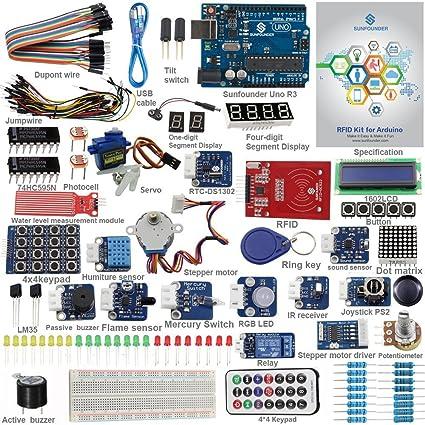 Amazon sunfounder rfid starter kit for arduino uno r3 mega nano sunfounder rfid starter kit for arduino uno r3 mega nano circuit board jumper wires sensors breadboard publicscrutiny Choice Image