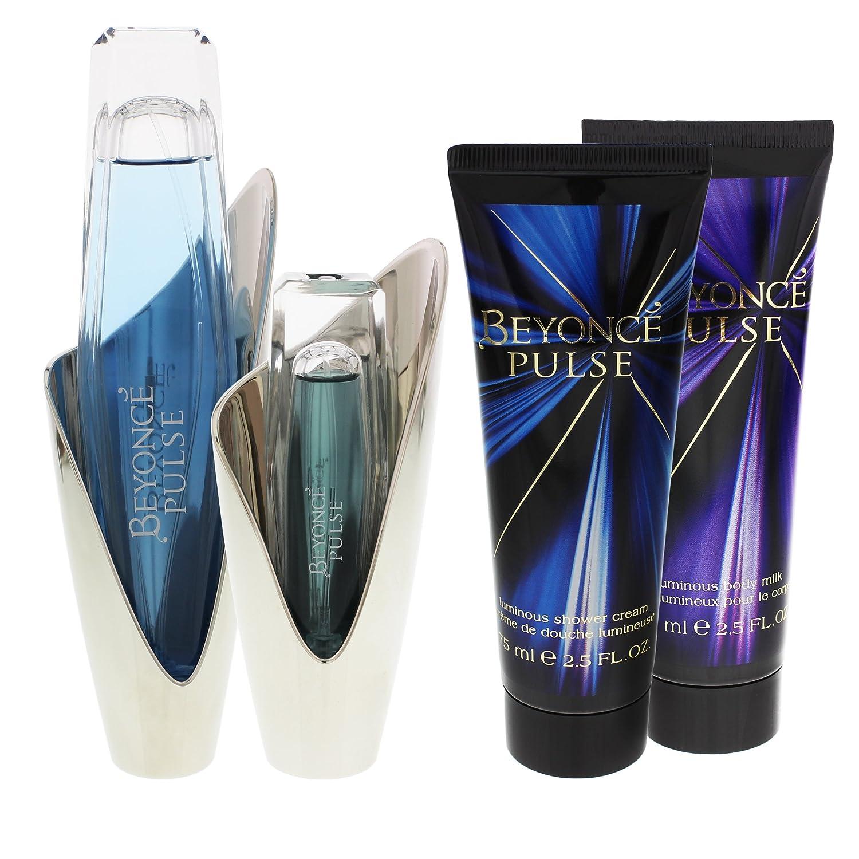 Beyonce Pulse Coffret: Edp Spray 100ml/3.4oz + Body Lotion 75ml/2.5oz + Shower Gel 75ml/2.5oz + Edp Spray 15ml/0.5oz - 4pcs 3607346403037