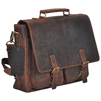 Amazon.com: Tony's Bags Vintage Rustic Genuine Leather Satchel ...