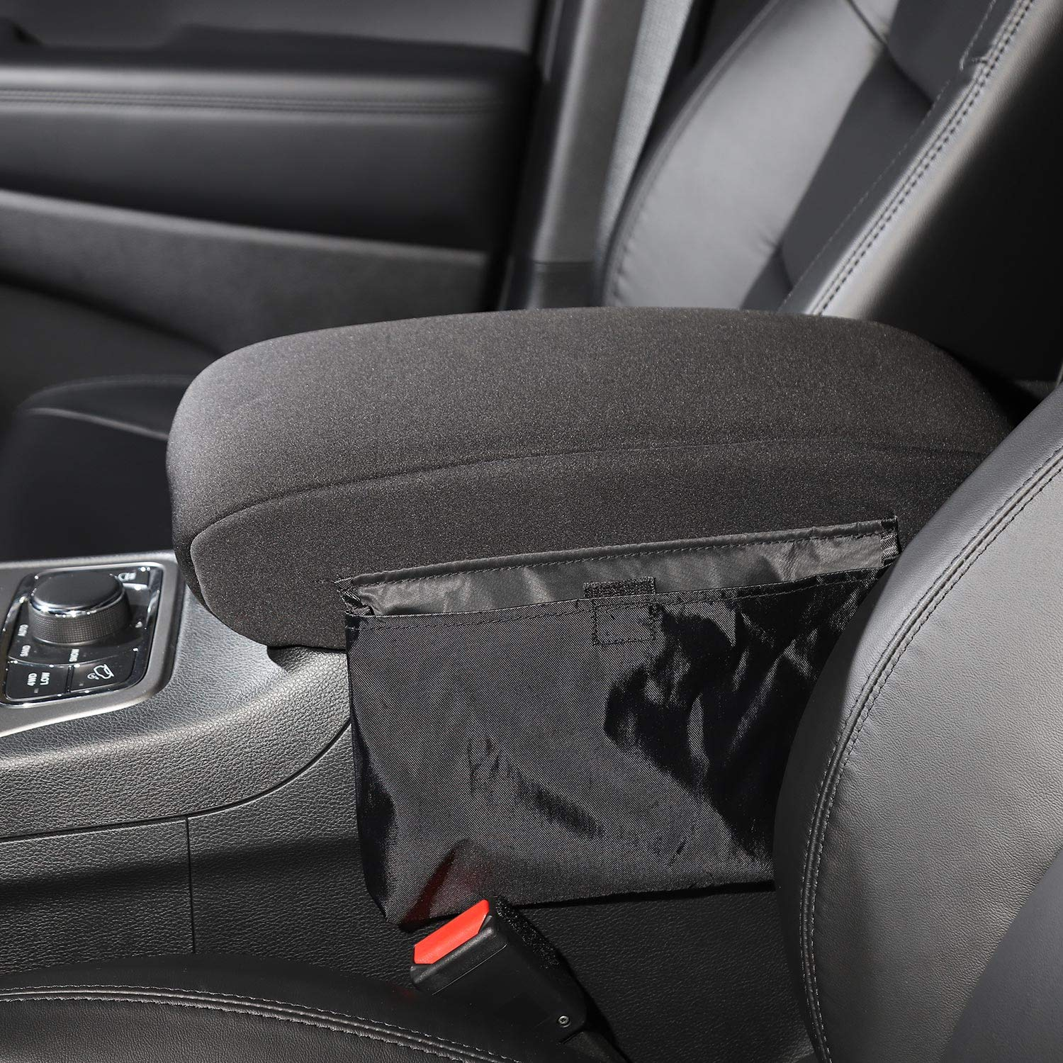 RT-TCZ Center Console Armrest Pad Cover with Storage Bag for 2011-2018 Jeep Grand Cherokee