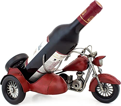 BRUBAKER Wine Bottle Holder Vintage Motorcycle