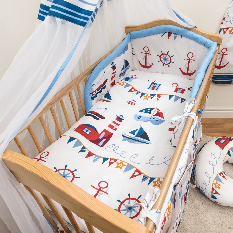 Muster 10 6-teiliges Baby Bettw/äsche Set 120x60cm mit dickem Kinderbett Schutz