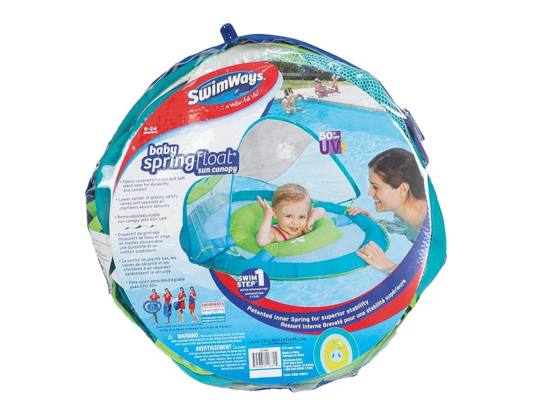 SwimWays Baby Spring Float Sun Canopy (Green) Swimways Corp 11606-GR