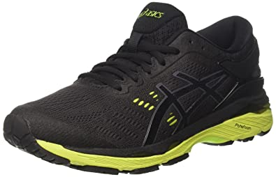 ASICS Men's Gel-Kayano 24 Black/Green Gecko/Phantom Running Shoes - 6