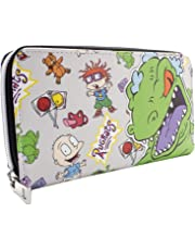 Rugrats Reptar Chuckie & Tommy Grey Coin & Card Clutch Purse