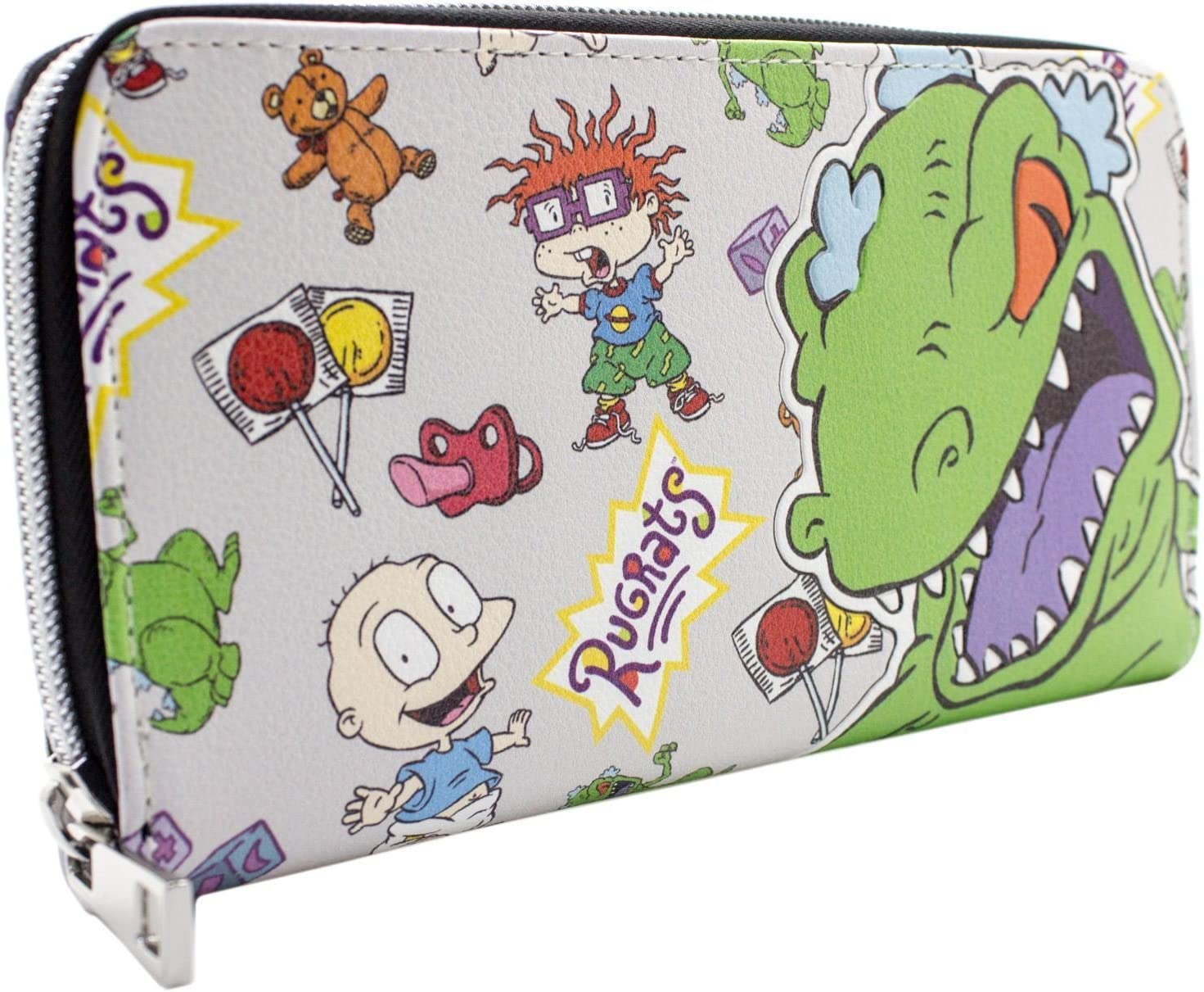 Rugrats Reptar Chuckie /& Tommy Gris Portefeuille