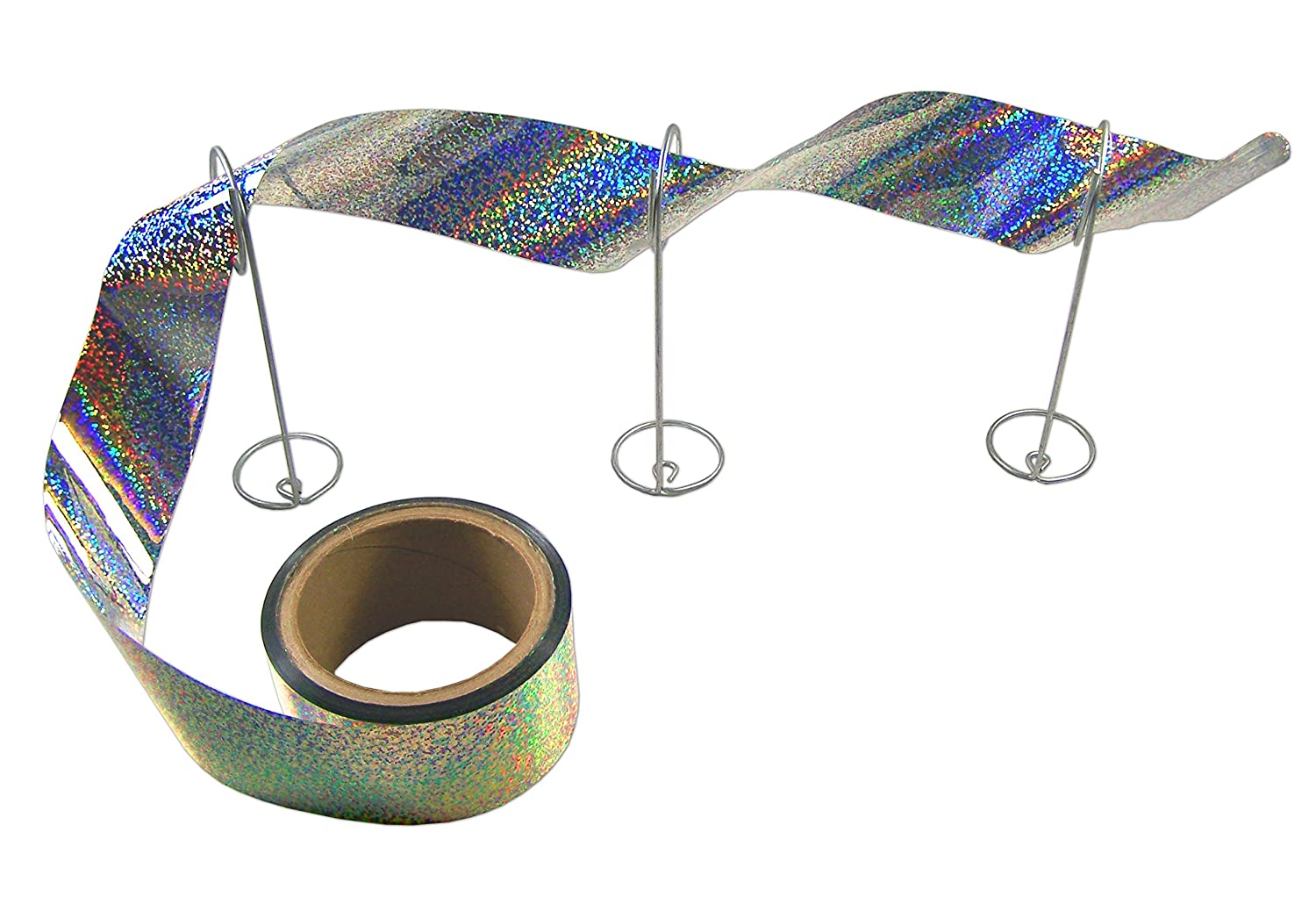 Bird-X Irri-Tape Holographic Iridescent Foil Bird Scare Tape, 2