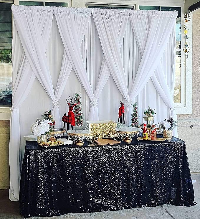 Sequin Table Runner Glitter Spark Shiny Bling Cloth Wedding Decoration SM